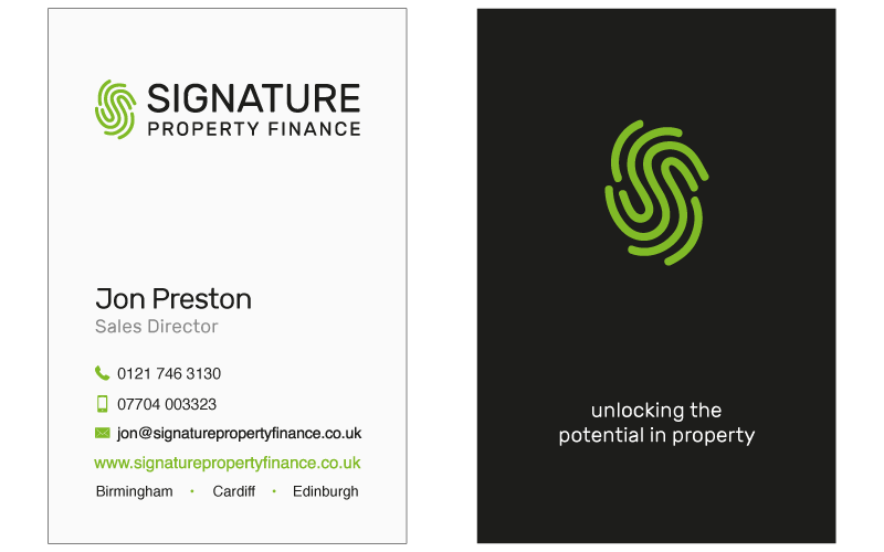 Signature property finance new branding design